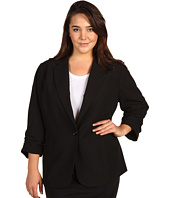 MICHAEL Michael Kors Plus - Plus Size Shirred Sleve Boyfriend Jacket
