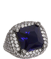 CZ By Kenneth Jay Lane - CZ Faceted Square with Pave Ring