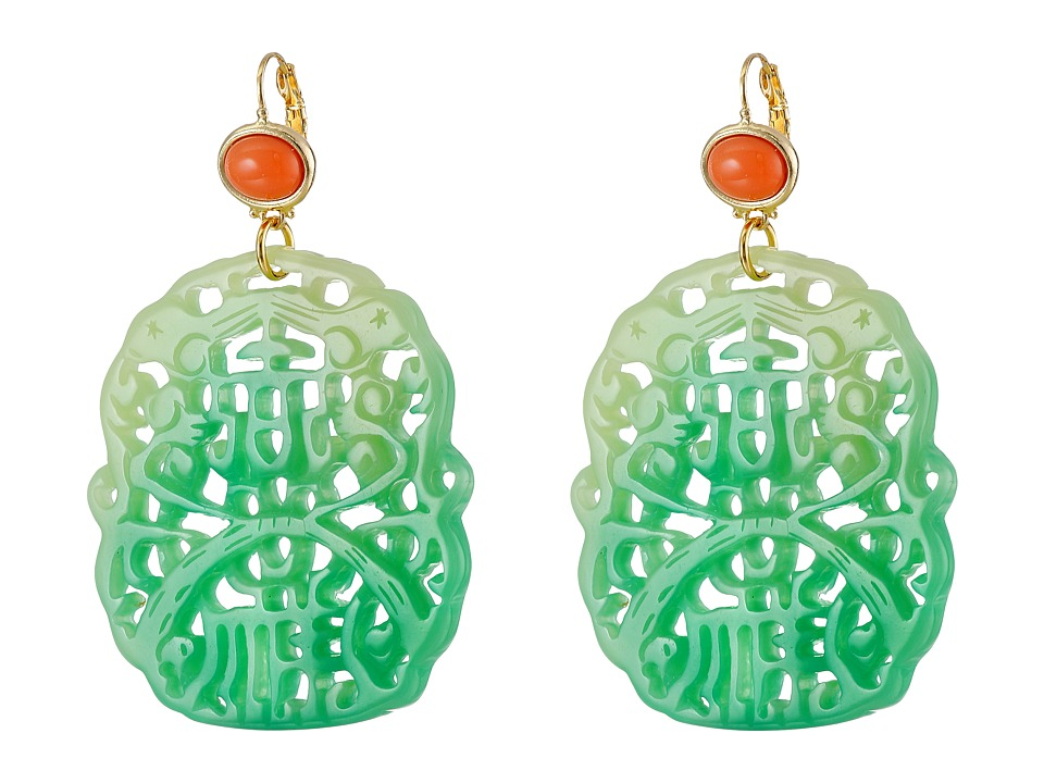 Kenneth Jay Lane - 7834ELCJ (Light Coral/Jade) Earring