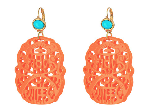 Kenneth Jay Lane 7834ETLC - Light Coral/Turquoise