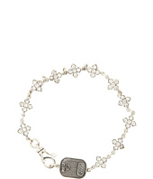 King Baby Studio - MB Cross Chain Bracelet With White Stones