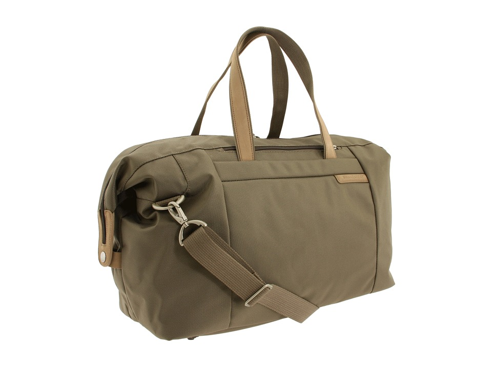 Briggs & Riley - Baseline - Large Travel Satchel (Olive) Duffel Bags