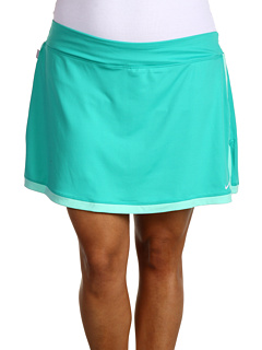 Nike - Extended Size Border Tennis Skort (New Green/Tropical Twist/White) - Apparel