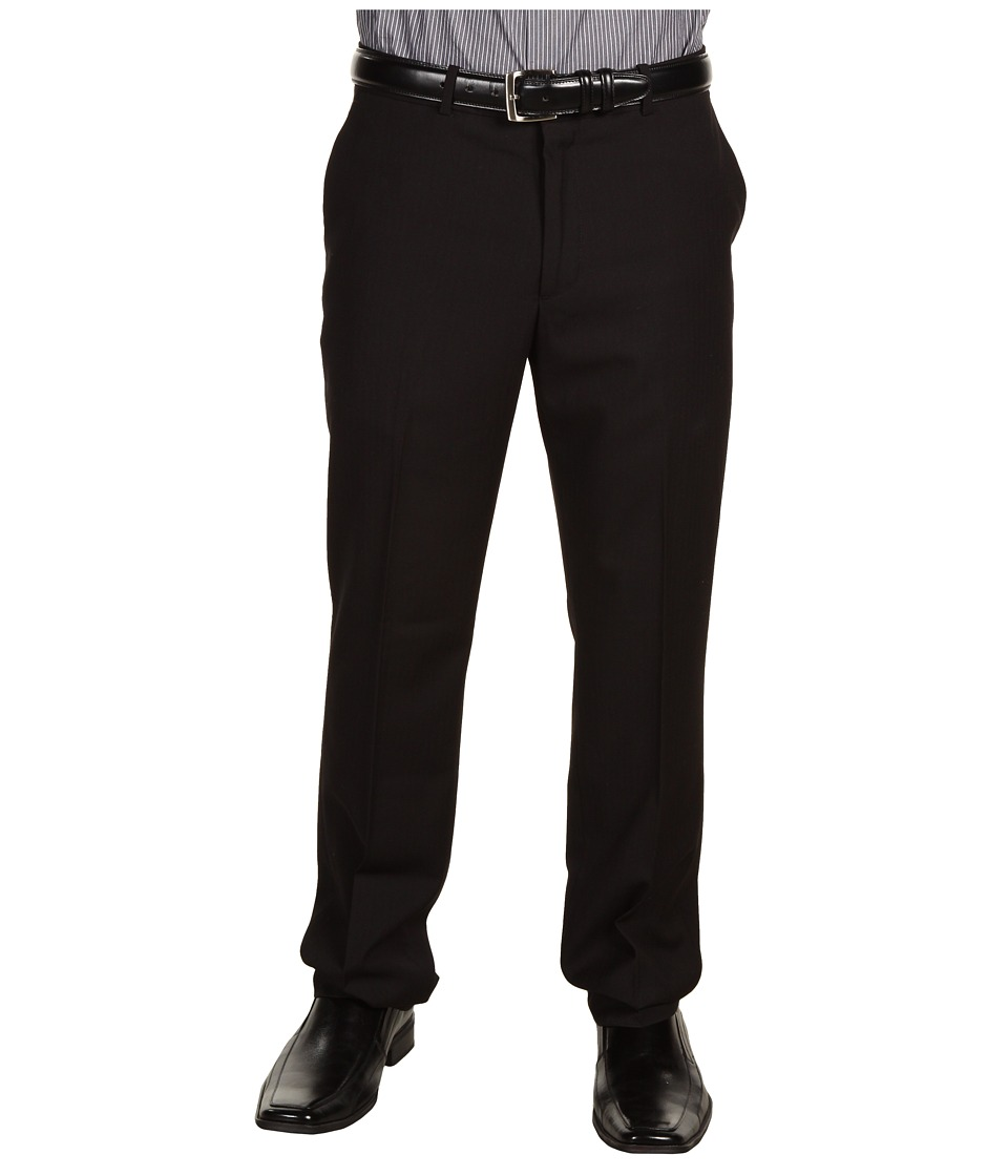 Perry Ellis Portfolio - Slim Fit Solid Pant (Black Ice) Mens Dress Pants