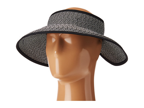 San Diego Hat Company UBV002 Sun Hat Visor - Black/White Mix