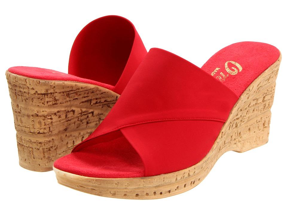 Onex Christina (Red Elastic) Wedge Shoes