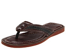 Tommy Bahama - Anchors Away Slide/ Two Tone Woven (Dark Brown) - Footwear