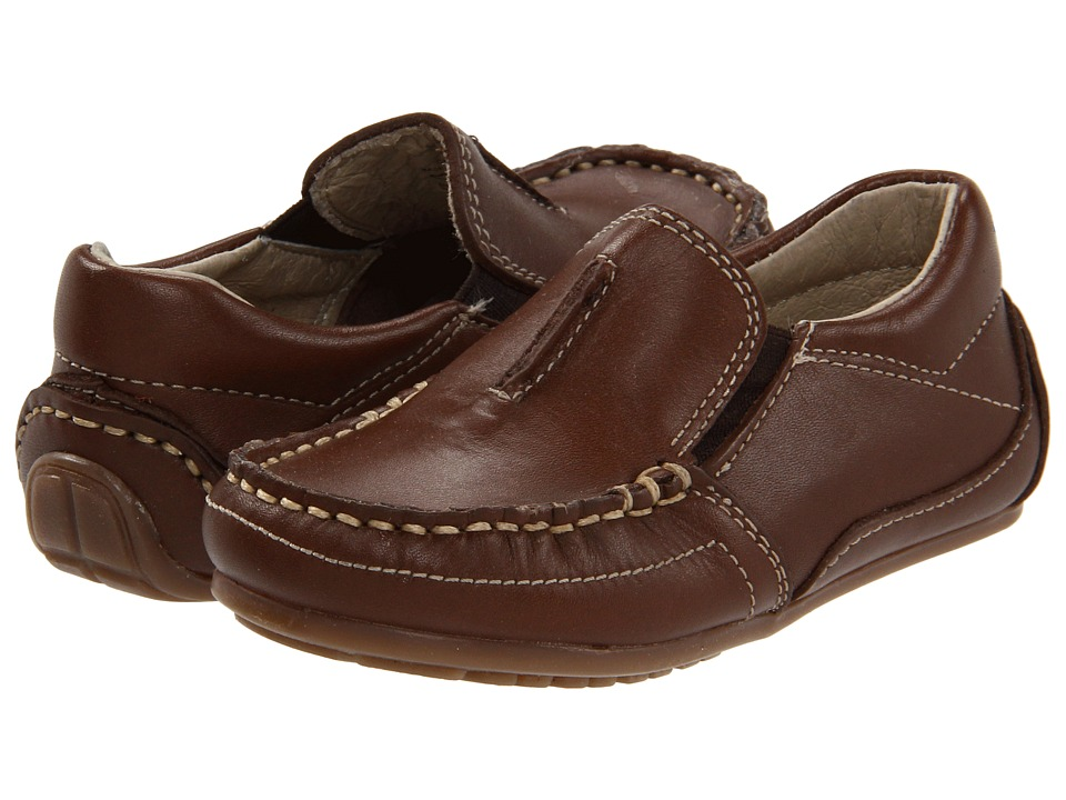 Kid Express - Colton (Toddler/Little Kid) (Dark Brown Leather) Boys Shoes