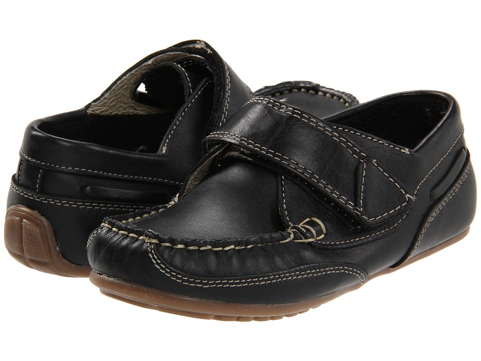 Kid Express - Chase (Toddler/Little Kid) (Black Leather) Boys Shoes