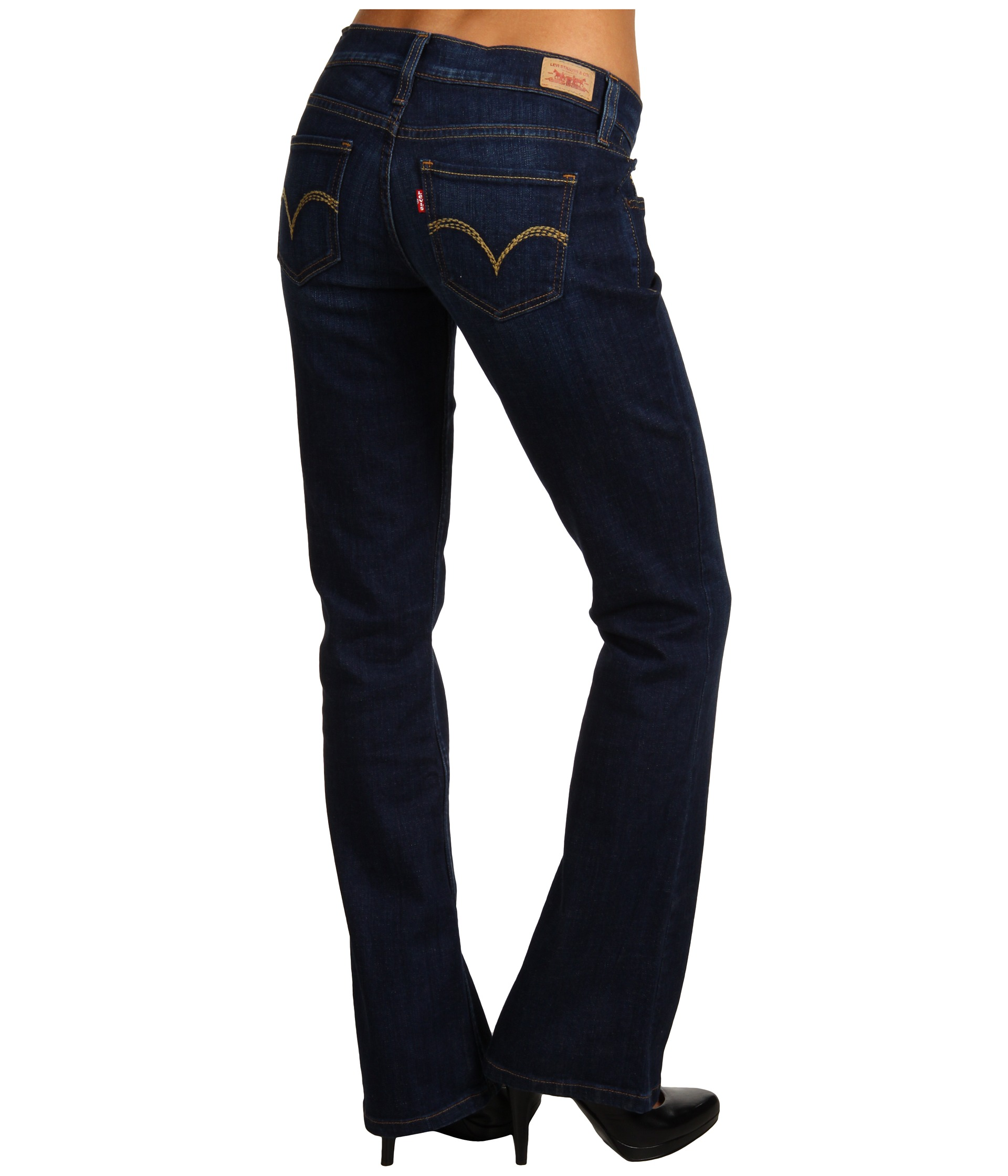 Levis Juniors 524 Boot Cut W Back Pocket Embellishment
