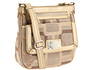 Nine West - Vegas Signs Top Zip Small Crossbody (Khaki/Gold Metallic/Light Bronze) - Bags and Luggage