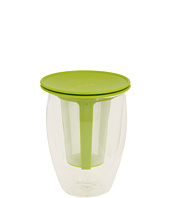 Bodum - 12-Ounce Tea for One, Double Wall Glass with Strainer, Green