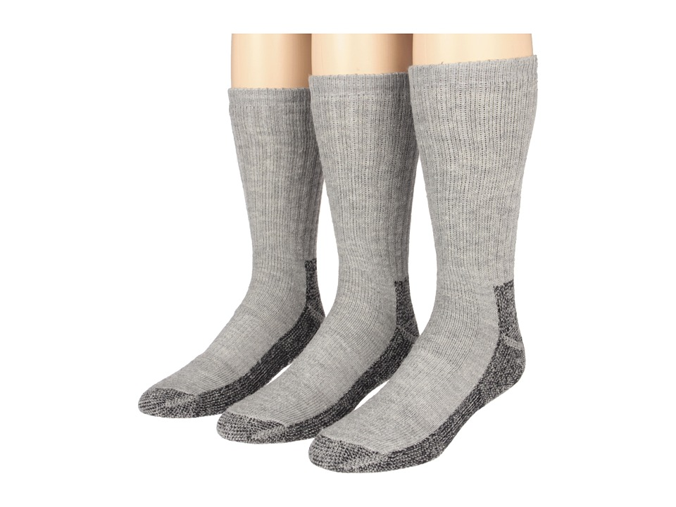 Fox River Trailhead Merino Crew Heavyweight Hiker 3 Pair Pack Grey Heather Mens Crew Cut Socks Shoes