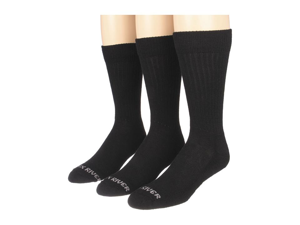 Fox River Trouser Lightweight Merino Casual Sock 3 Pair Pack Black Mens Crew Cut Socks Shoes
