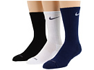 Nike - Dri-Fit Half-Cushion Crew 3-Pair Pack (Midnight Navy/(White)/White/(Flint Grey)/Black/(Flint Grey))