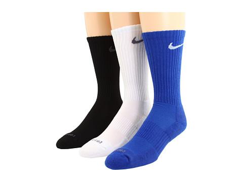 Cheap Nike Dri Fit Half Cushion Crew 3 Pair Pack Varsity Royal White White Flint Grey Black Flint Grey