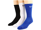 Nike - Dri-Fit Half-Cushion Crew 3-Pair Pack (Varsity Royal/(White)/White/(Flint Grey/(Black/(Flint Grey))