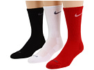 Nike - Dri-Fit Half-Cushion Crew 3-Pair Pack (Varsity Red/(White)/White/(Flint Grey)/Black/(Flint Grey))