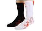 Nike - Performance Football Crew 2-Pair Pack (White/(Team Orange)/Black/(Team Orange))