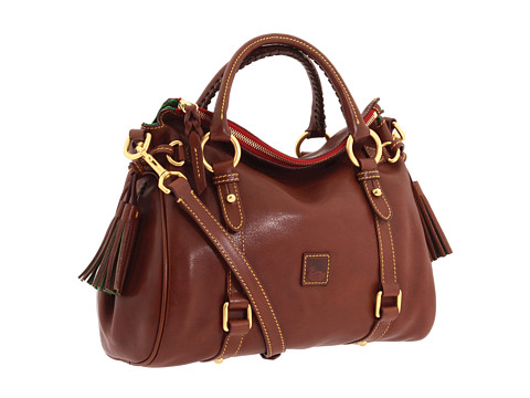 Dooney & Bourke Florentine Small Satchel - Chestnut/Self Trim