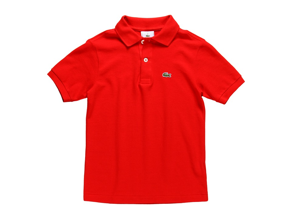 Lacoste Kids - Short Sleeve Classic Pique Polo Shirt (Toddler/Little Kids/Big Kids) (Red) Boy
