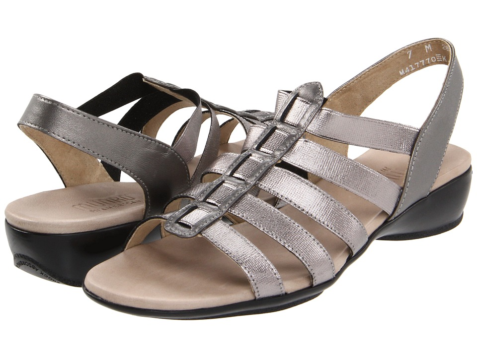 Munro American Darian (Antique Silver Leather/Silver Stretch) Women's Sandals, wide width womens sandals, wide fitting sandal, comfort, footwear, shoes, WW