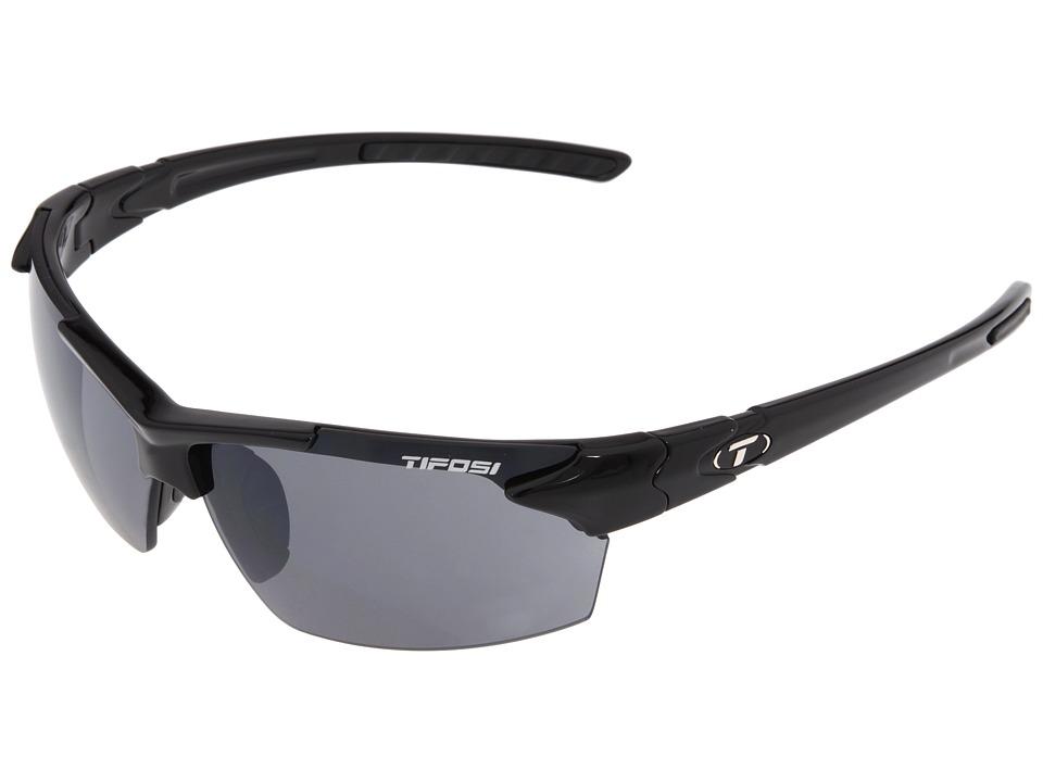 Tifosi Optics - Jettm (Gloss Black) Athletic Performance Sport Sunglasses