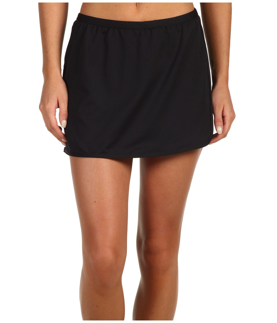 TYR - Solid Swim Skort (Black) Womens Swimwear