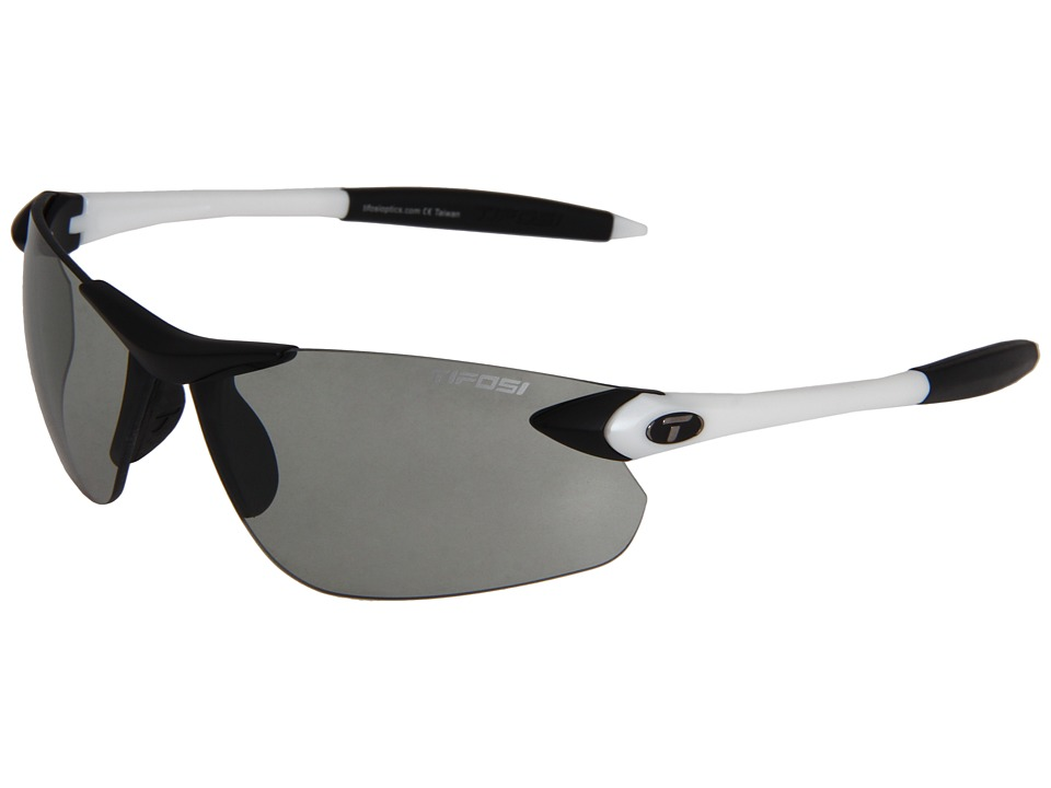 Tifosi Optics - Seektm Fototectm FC - Smoke (White/Black/ Smoke Fototec Lens) Athletic Performance Sport Sunglasses