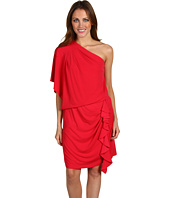 Jessica Simpson - Draped Sleeve Ruffled Dress