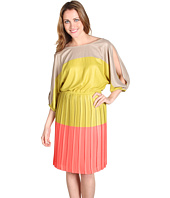 BCBGMAXAZRIA - Basia Cold Shoulder Colorblock Dress