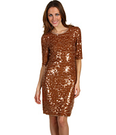 BCBGMAXAZRIA - Marta 3/4 Sleeve Sequin Dress