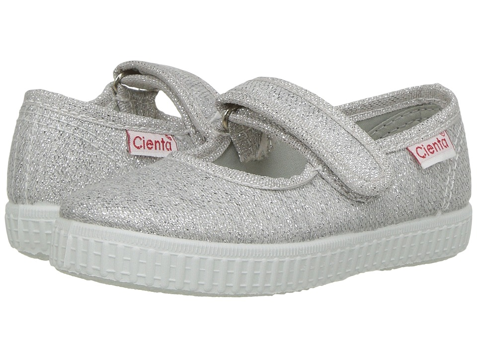Cienta Kids Shoes - 56013 (Infant/Toddler/Little Kid/Big Kid) (Silver) Girls Shoes