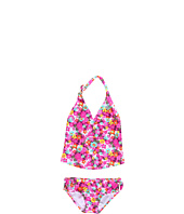Roxy Kids - Daisy Gypsy Halter Tiki Tri Tankini Set (Toddler/Little Kids)
