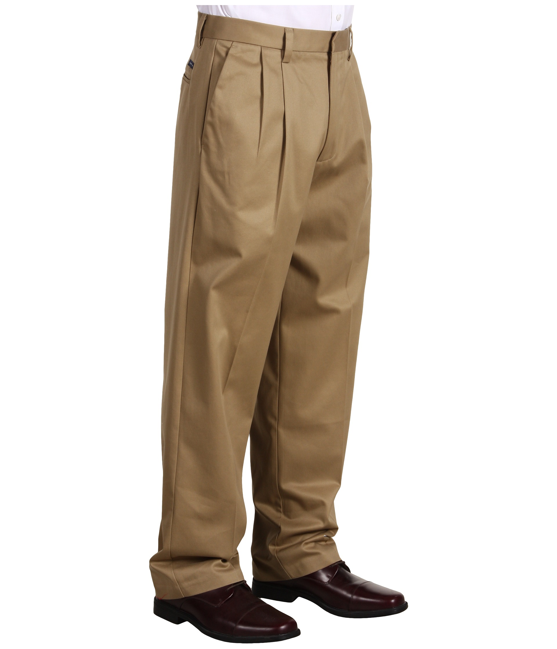 mens pleated cuffed khaki pants - Pi Pants