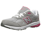New Balance Kids KJ990G Big Kid Grey, Pink Shoes