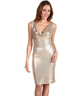 Nicole Miller - Stretch Sequins Cowl Neck Short Dress