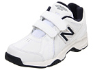 New Balance Kids KV624Y Little Kid, Big Kid White, Navy Shoes
