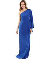 Nicole Miller - Stretch Crepe De Chine One-Shoulder Gown