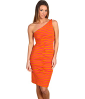 Nicole Miller - Striped Jersey One Shoulder Dress