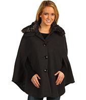 Steve Madden - Faux Fur Collar Cape