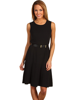 Calvin Klein - Fit and Flare Dress (Black) - Apparel