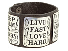 Gypsy SOULE - Inspiration Leather Cuff (Brown/Silver) - Jewelry