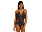 GUESS - Spotted One Piece Swimsuit (Black) - Apparel