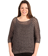 Anne Klein Plus - Plus Size 3/4 Sleeve Dolman Boat Neck Sweater