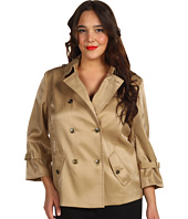 Anne Klein Plus - Plus Size Luster Cropped Trench Coat