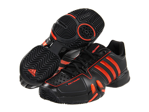 adidas - adipower Barricade (Black/High Energy) - Footwear