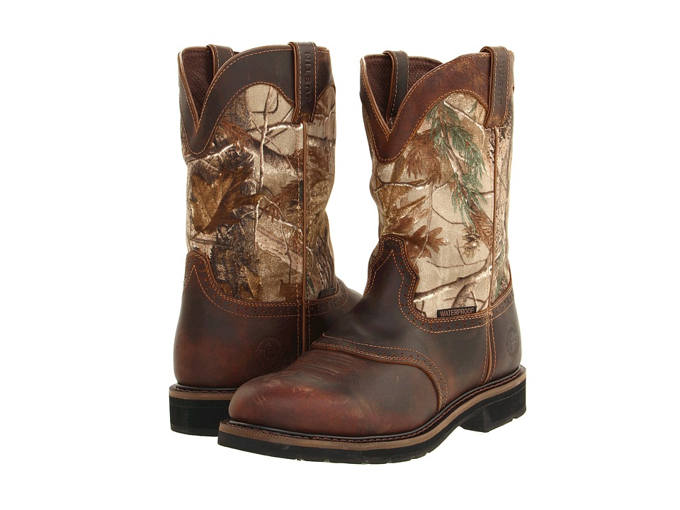 Justin - Trekker Waterproof (Tan/RealTree HD) Mens Work Boots