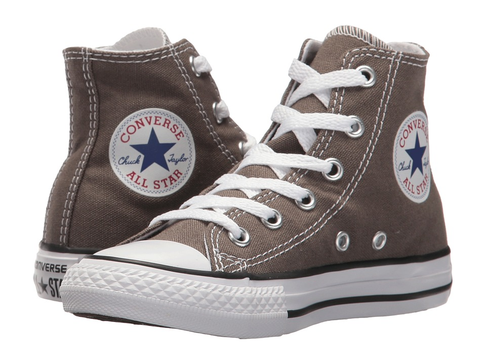 Converse Kids Chuck Taylor(r) All Star(r) Core Hi (Little Kid) (Charcoal) Kids Shoes