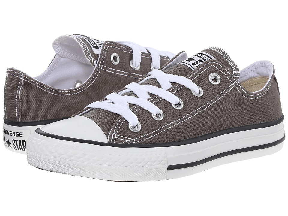 Converse Kids Chuck Taylor All Star Core Ox (Little Kid) (Charcoal) Kids Shoes